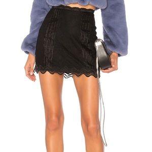 Lovers + Friends Raissa Mini Skirt In Night